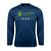 College Performance Navy Longsleeve Shirt-Dad