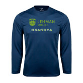 College Performance Navy Longsleeve Shirt-Grandpa