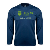 College Performance Navy Longsleeve Shirt-Alumni