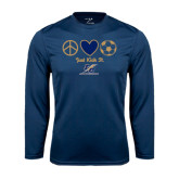 College Performance Navy Longsleeve Shirt-Just Kick It