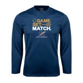 College Performance Navy Longsleeve Shirt-Game Set Match