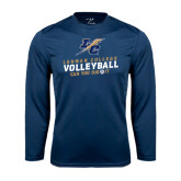 College Performance Navy Longsleeve Shirt-Can You Dig It