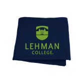 College Navy Sweatshirt Blanket-University Mark