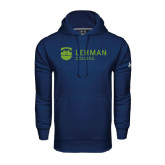 College Under Armour Navy Performance Sweats Team Hoodie-Flat University Mark