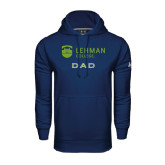 College Under Armour Navy Performance Sweats Team Hoodie-Dad