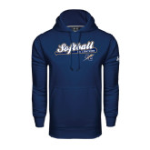 College Under Armour Navy Performance Sweats Team Hoodie-Softball Script