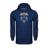 College Under Armour Navy Performance Sweats Team Hoodie-Basketball On Ball