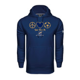 Under Armour Navy Performance Sweats Team Hood-Just Kick It