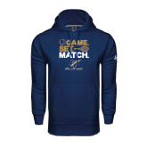 College Under Armour Navy Performance Sweats Team Hoodie-Game Set Match