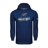 Under Armour Navy Performance Sweats Team Hood-Can You Dig It