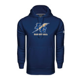 College Under Armour Navy Performance Sweats Team Hoodie-Basketball
