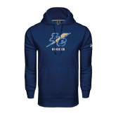 College Under Armour Navy Performance Sweats Team Hoodie-Soccer