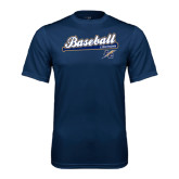 Syntrel Performance Navy Tee-Baseball Script