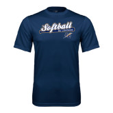 College Performance Navy Tee-Softball Script