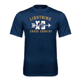 College Performance Navy Tee-Lightning Cross Country
