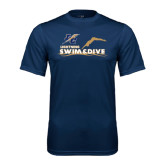 College Performance Navy Tee-Swim and Dive Design