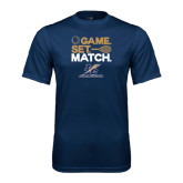 College Performance Navy Tee-Game Set Match
