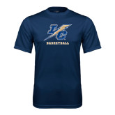 College Performance Navy Tee-Basketball