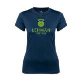 Ladies Syntrel Performance Navy Tee-University Mark