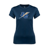 Ladies Syntrel Performance Navy Tee-LC Lightning