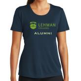Ladies Syntrel Performance Navy Tee-Alumni