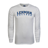 White Long Sleeve T Shirt-Arched Lehman College