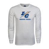 White Long Sleeve T Shirt-Indoor Track And Field