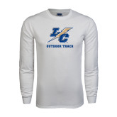White Long Sleeve T Shirt-Outdoor Track And Field