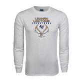 White Long Sleeve T Shirt-Basketball On Ball