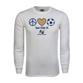White Long Sleeve T Shirt-Just Kick It
