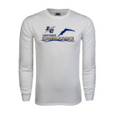 White Long Sleeve T Shirt-Swim and Dive Design
