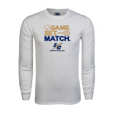 White Long Sleeve T Shirt-Game Set Match