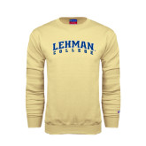 Champion Vegas Gold Fleece Crew-Arched Lehman College