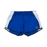 Ladies Royal/White Team Short-University Mark