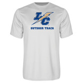 College Performance White Tee-Outdoor Track And Field