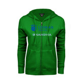 ENZA Ladies Kelly Green Fleece Full Zip Hoodie-Grandma
