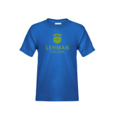 College Youth Royal T Shirt-University Mark