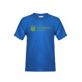 Youth Royal Blue T Shirt-Flat University Mark