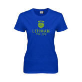 College Ladies Royal T Shirt-University Mark