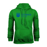 College Kelly Green Fleece Hoodie-Flat University Mark