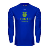 Under Armour Royal Long Sleeve Tech Tee-University Mark