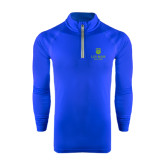 College Under Armour Royal Tech 1/4 Zip Performance Shirt-University Mark