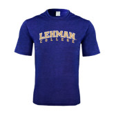 Performance Royal Heather Contender Tee-Arched Lehman College