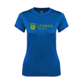 Ladies Syntrel Performance Royal Tee-Flat University Mark