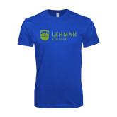 Next Level SoftStyle Royal T Shirt-Flat University Mark