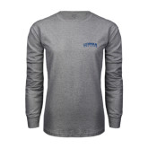 Grey Long Sleeve T Shirt-Arched Lehman College
