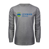 Grey Long Sleeve T Shirt-Flat University Mark