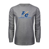 Grey Long Sleeve T Shirt-LC Lightning Stacked