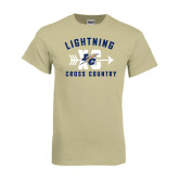 Khaki Gold T Shirt-Lightning Cross Country