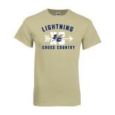 Khaki Gold T Shirt-Lightning Cross Country